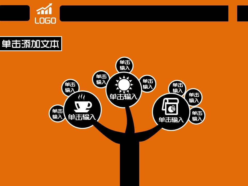 橙色简易商务汇报模板下载_预览图14