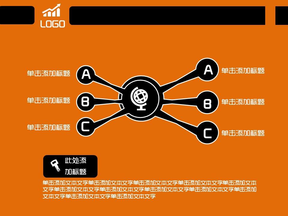 橙色简易商务汇报模板下载_预览图12
