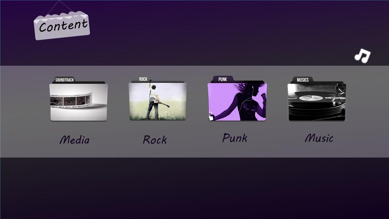 高贵紫色音乐之声PPT模板下载_预览图2