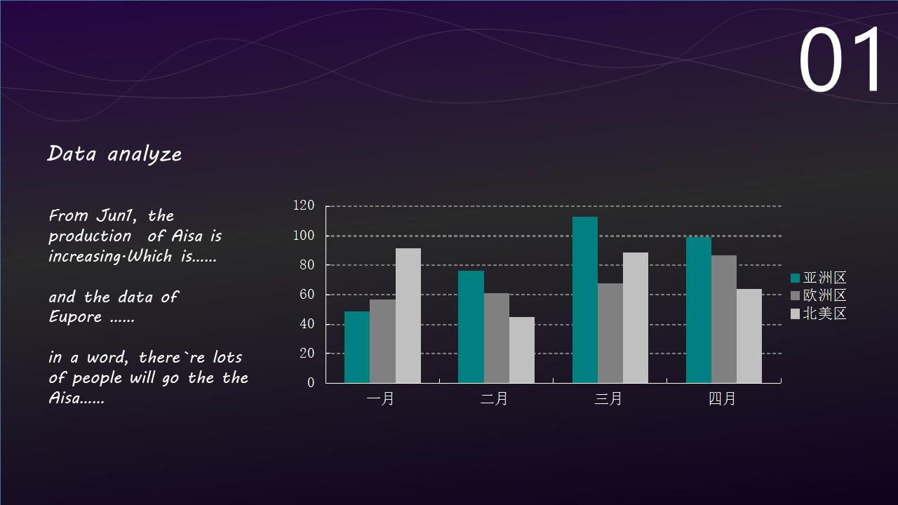 高贵紫色音乐之声PPT模板下载_预览图3