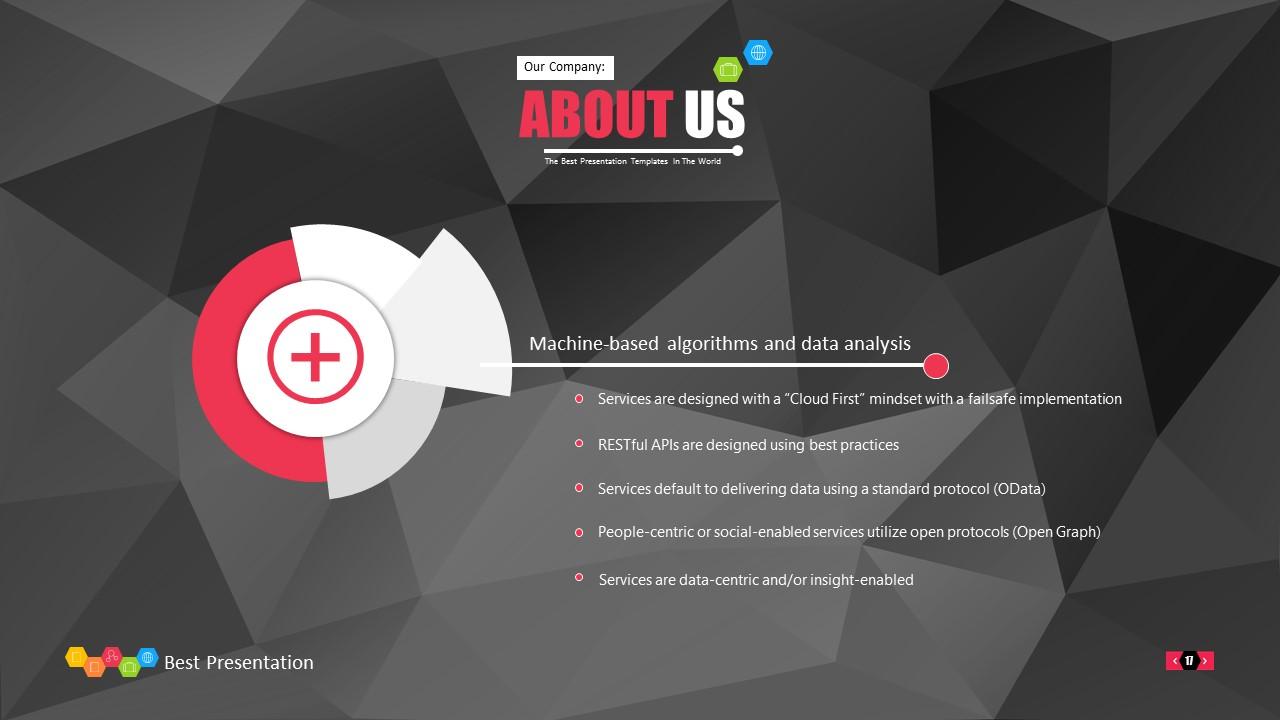 时尚黑色晶体团队介绍PowerPoint模板下载_预览图17