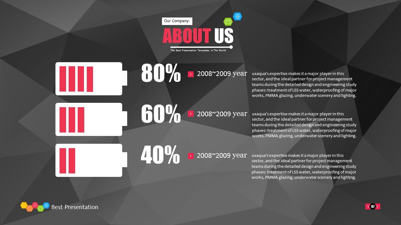 时尚黑色晶体团队介绍PowerPoint模板下载_预览图7