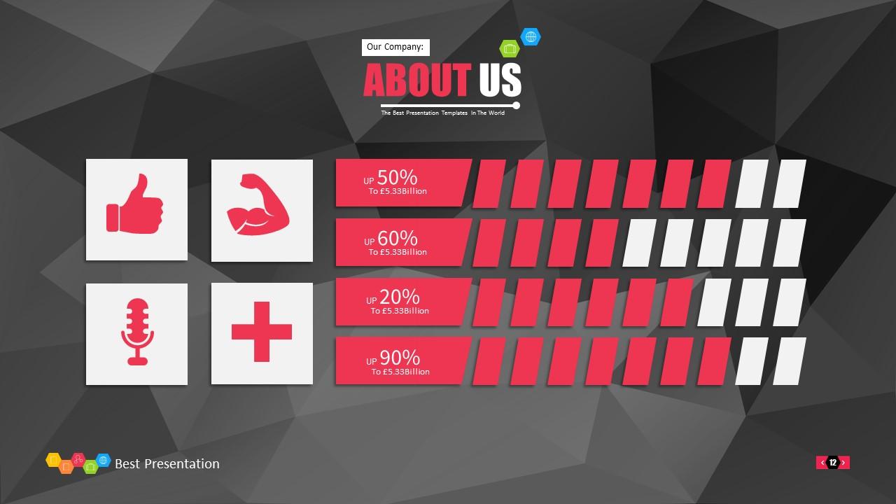 时尚黑色晶体团队介绍PowerPoint模板下载_预览图12