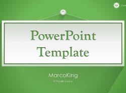 绿色清新总结报告商务PowerPoint模板