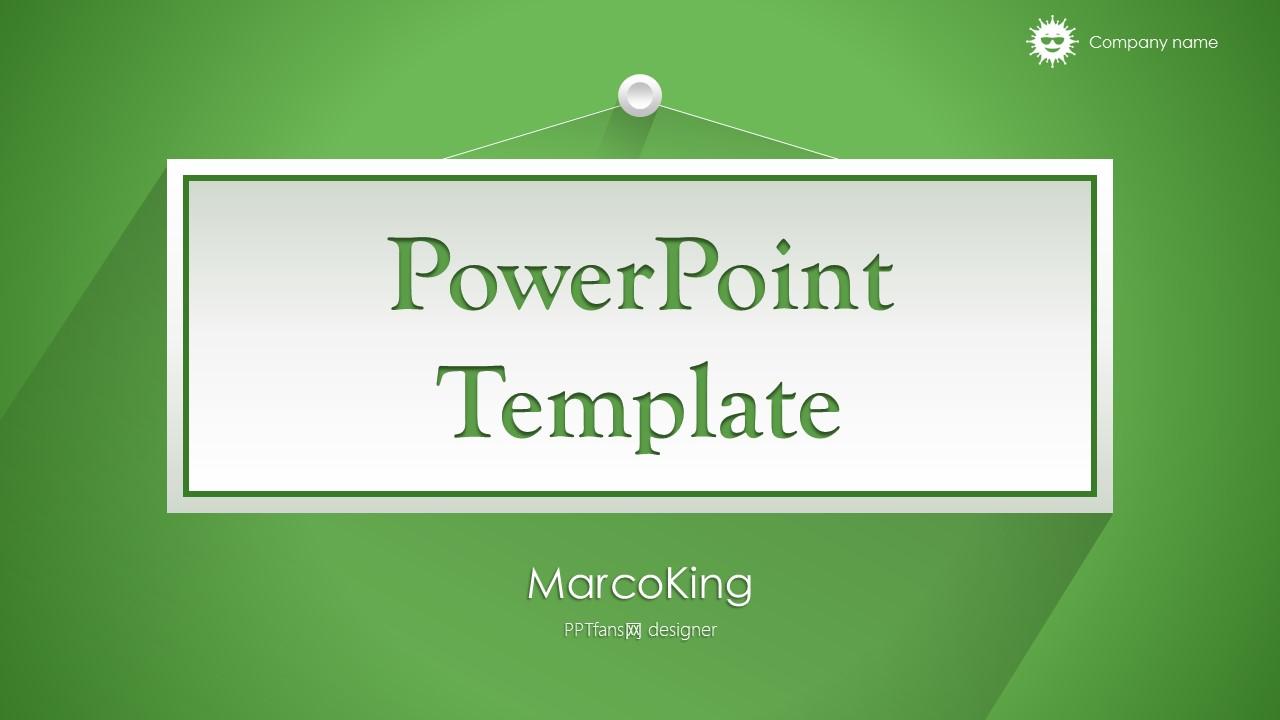 绿色清新总结报告商务PowerPoint模板_预览图1