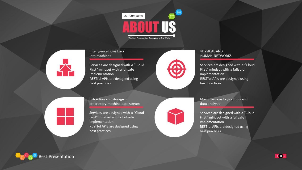 时尚黑色晶体团队介绍PowerPoint模板下载_预览图13