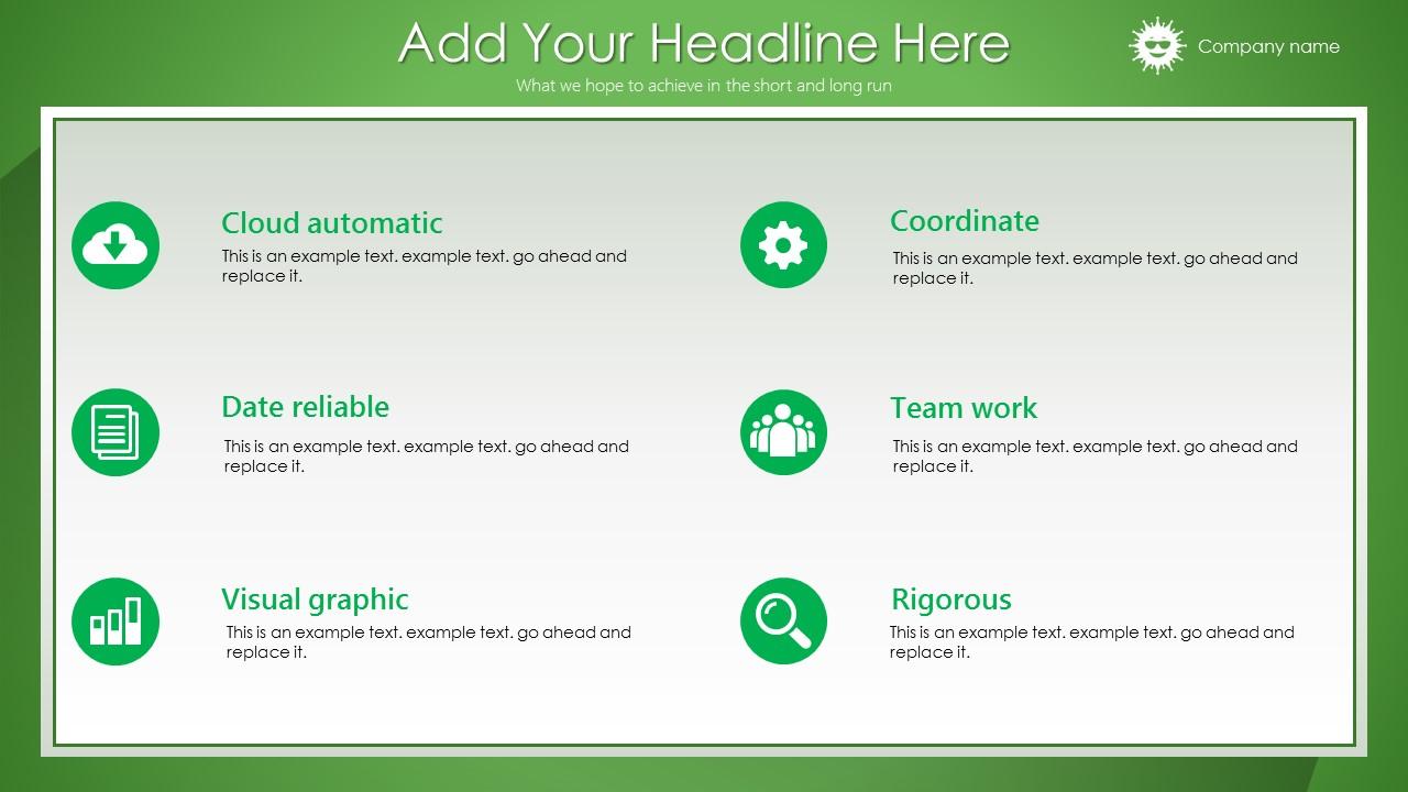 绿色清新总结报告商务PowerPoint模板_预览图13