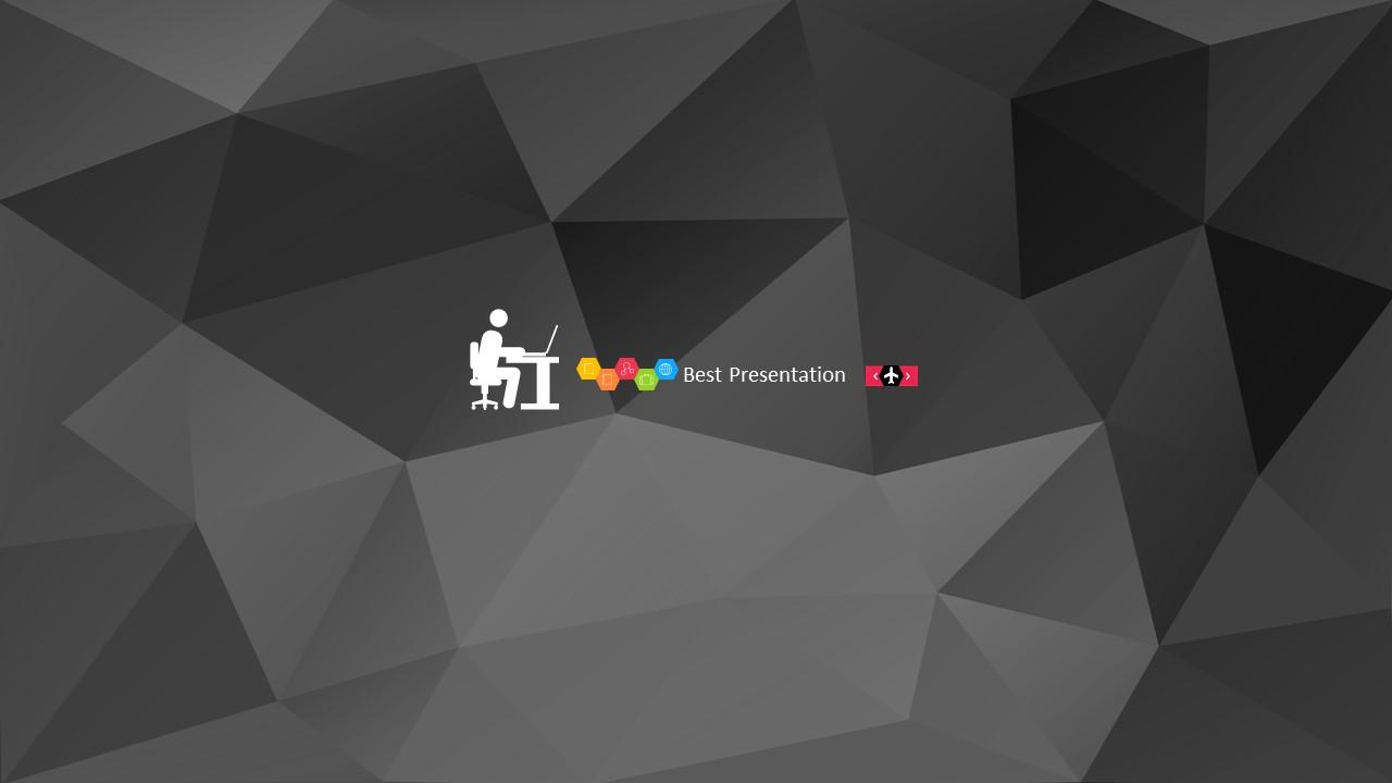 时尚黑色晶体团队介绍PowerPoint模板下载_预览图2