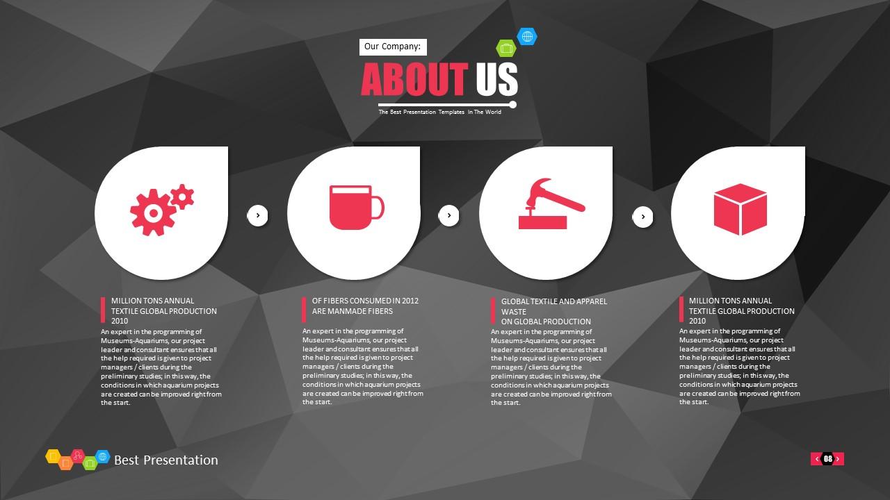 时尚黑色晶体团队介绍PowerPoint模板下载_预览图8