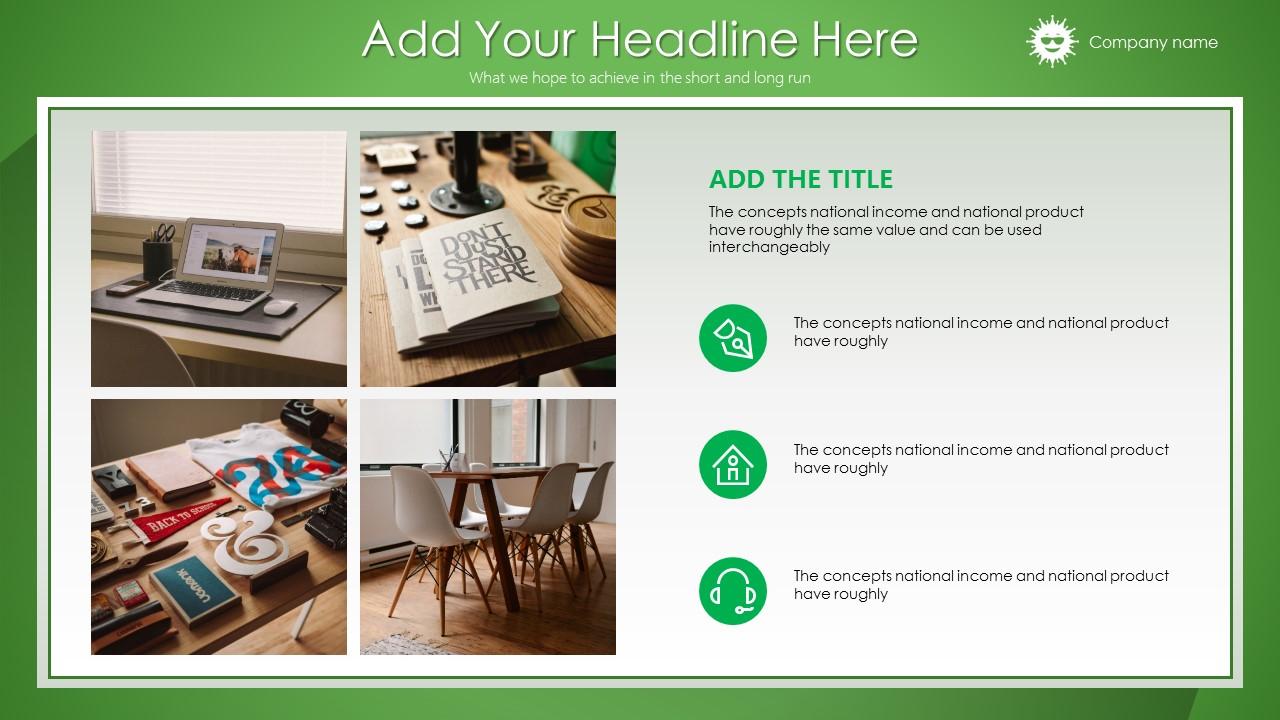 绿色清新总结报告商务PowerPoint模板_预览图10
