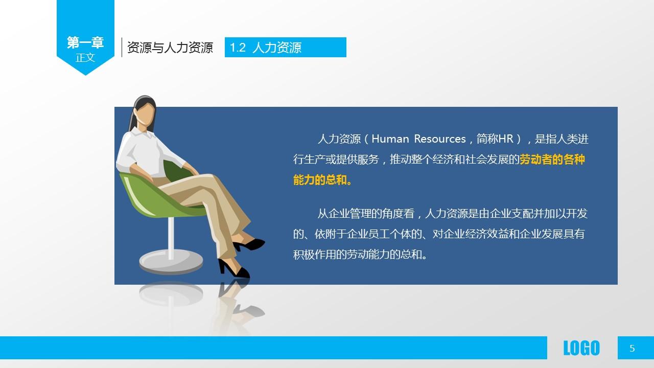 企业人力资源管理PPT模板下载_预览图5