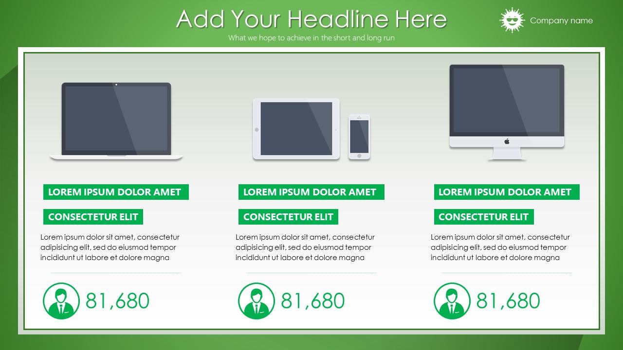 绿色清新总结报告商务PowerPoint模板_预览图5