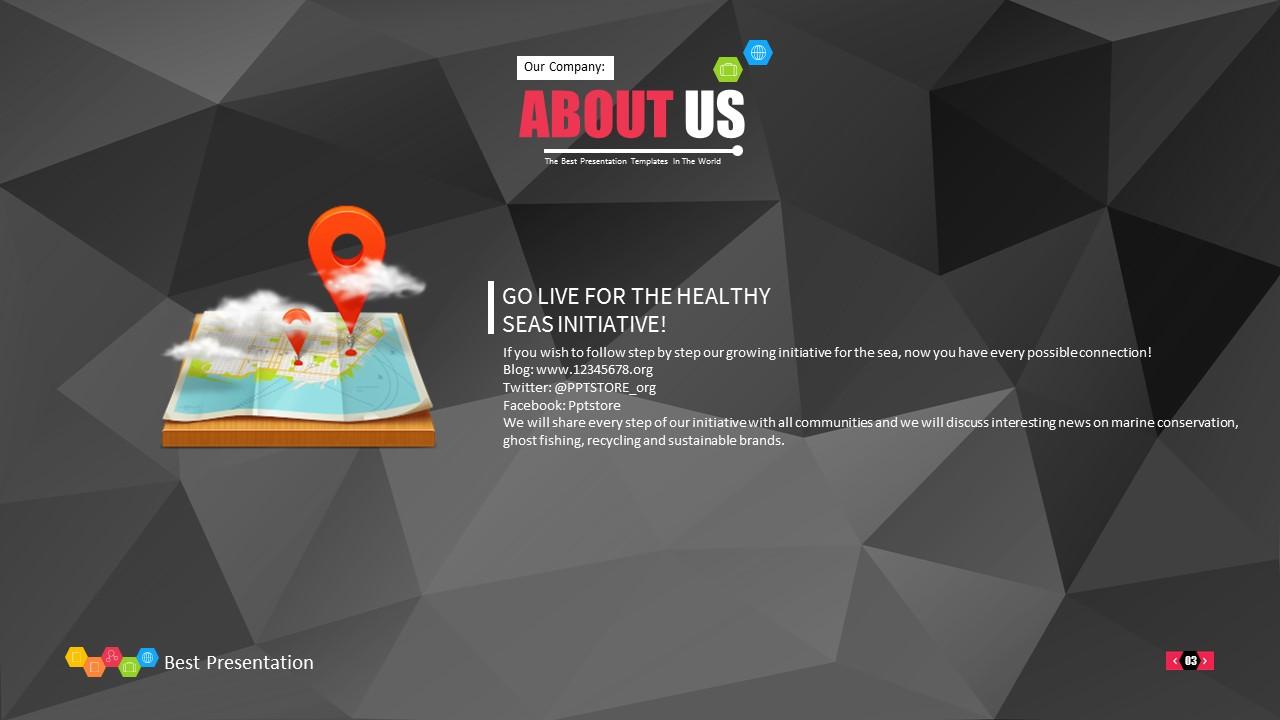 时尚黑色晶体团队介绍PowerPoint模板下载_预览图3