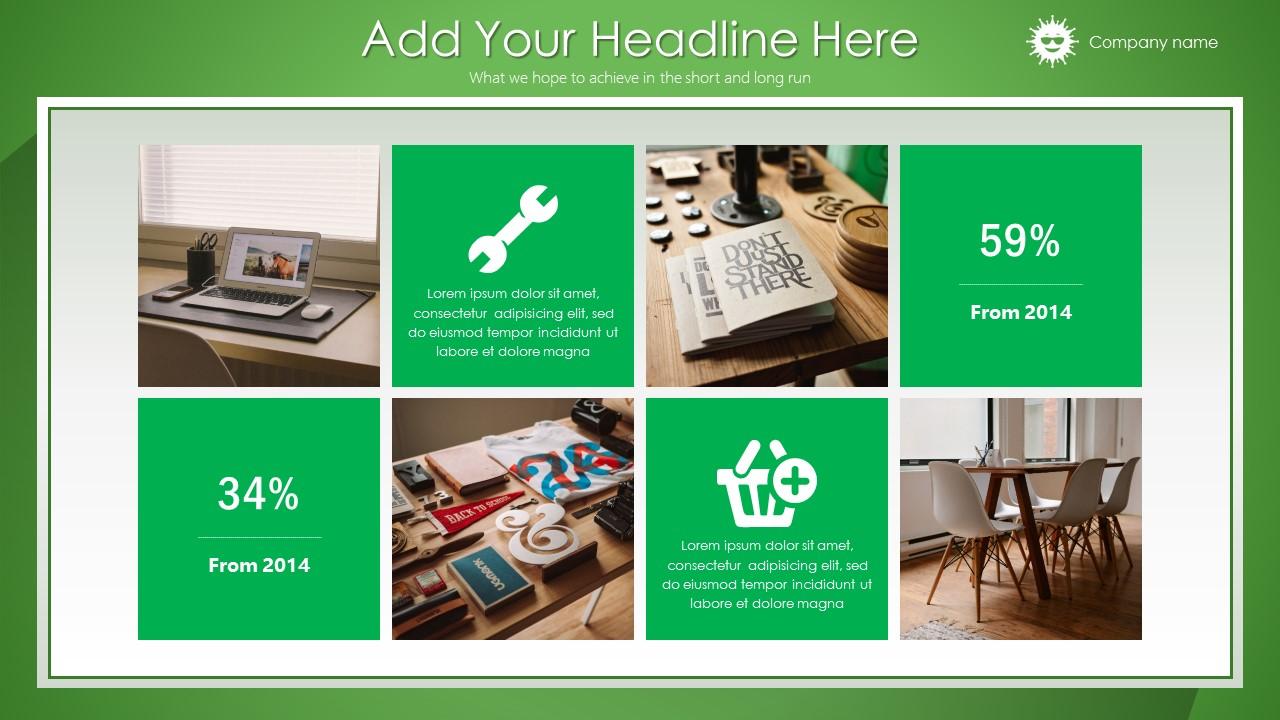 绿色清新总结报告商务PowerPoint模板_预览图3