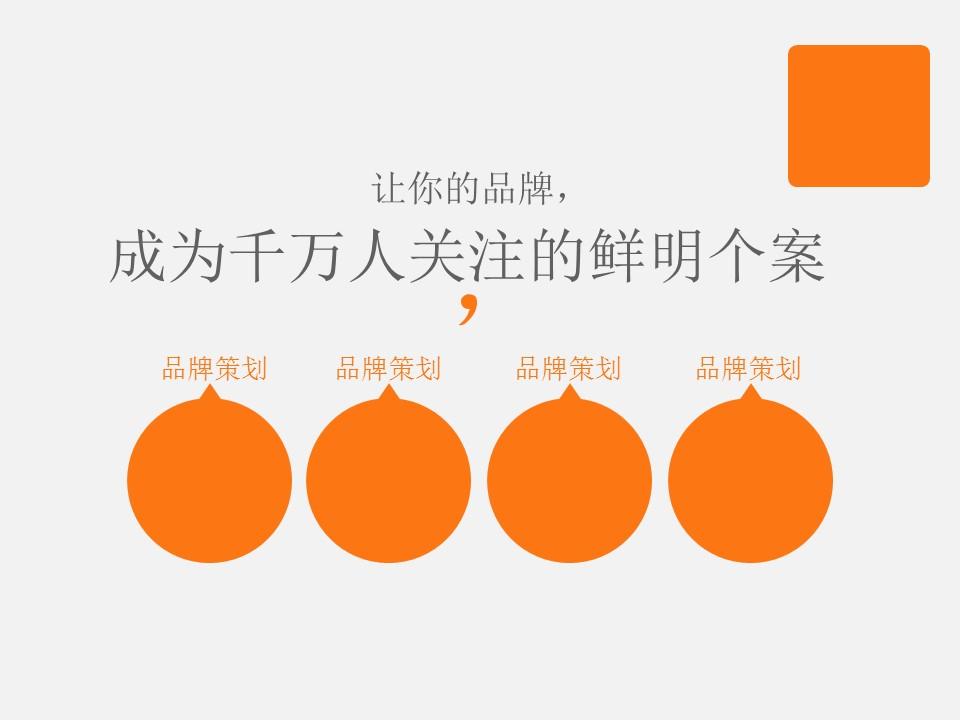 橙色系公司介绍商务PowerPoint模板_预览图11