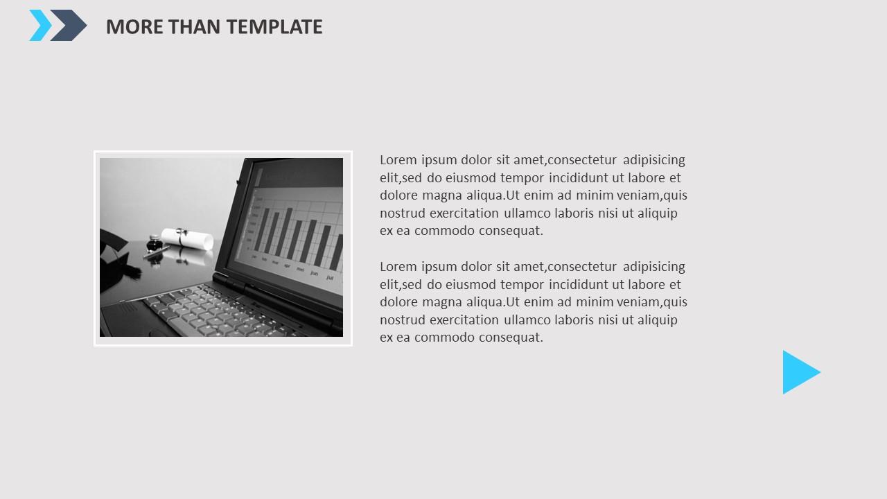 公司简介时尚商务PPT模板_预览图5