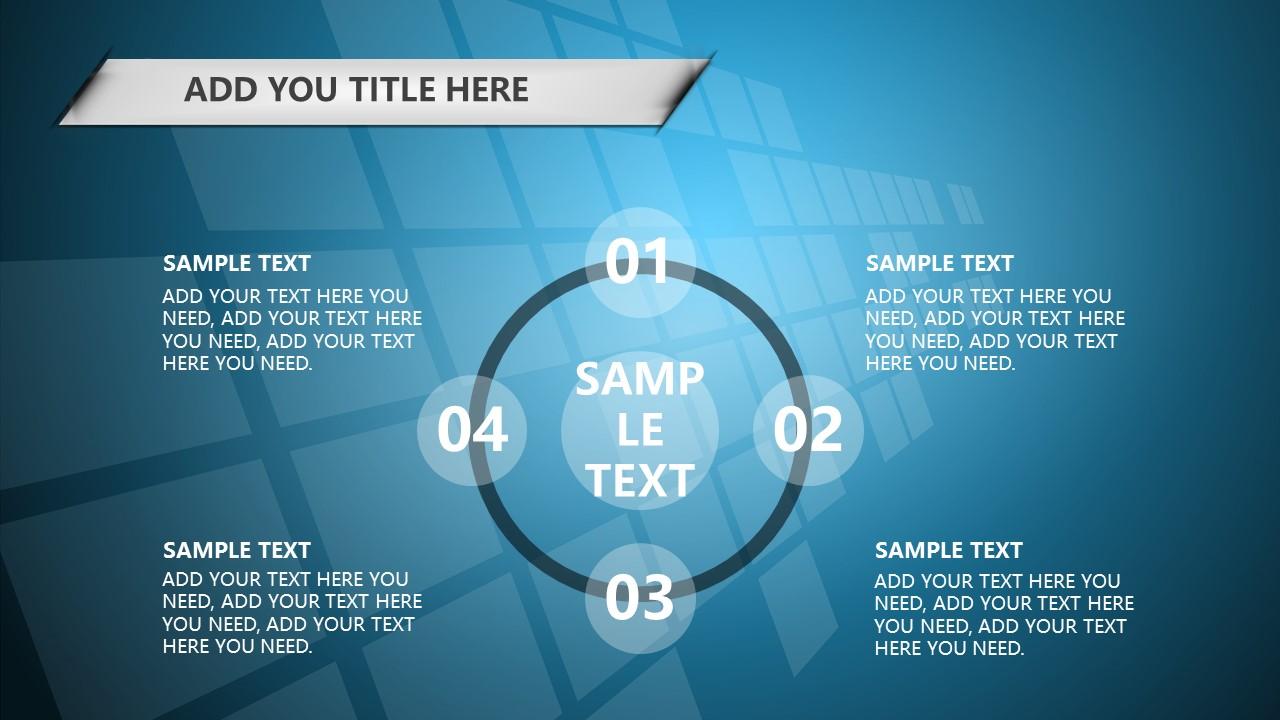 蓝色科技商务PowerPoint模板下载_预览图17