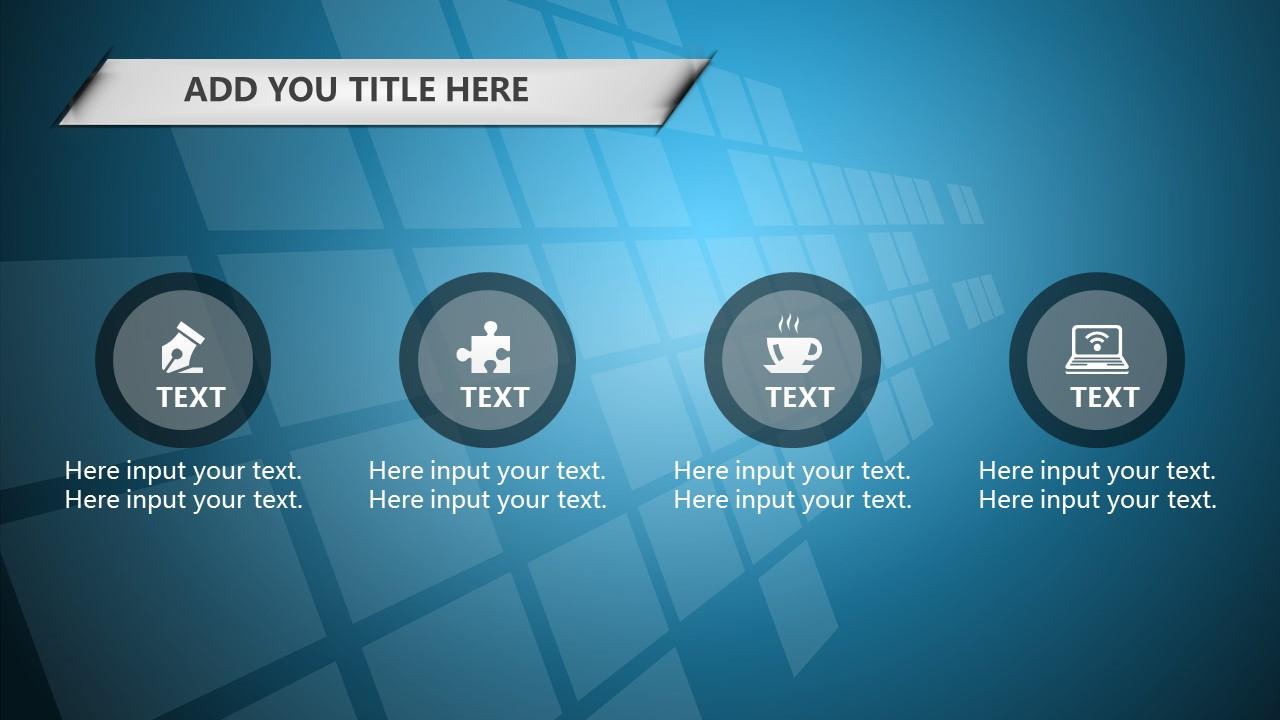 蓝色科技商务PowerPoint模板下载_预览图4