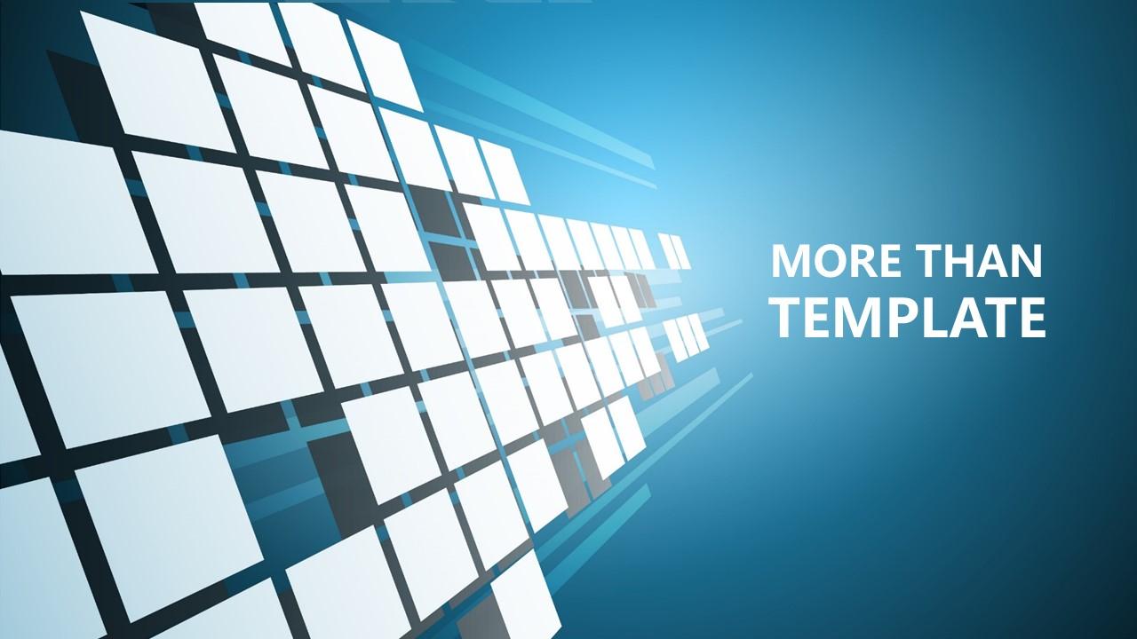 蓝色科技商务PowerPoint模板下载_预览图1