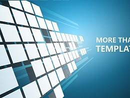 藍色科技商務PowerPoint模板下載