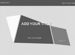 灰色简洁商务PPT模板下载