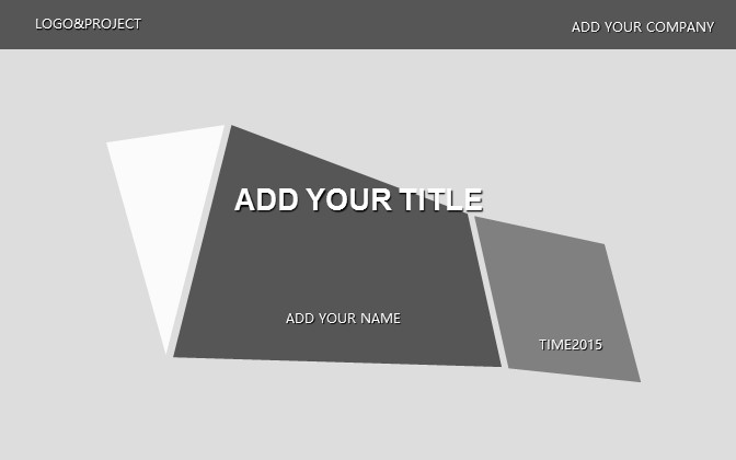 灰色简洁商务PPT模板下载_预览图1