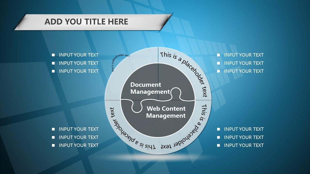 蓝色科技商务PowerPoint模板下载_预览图13