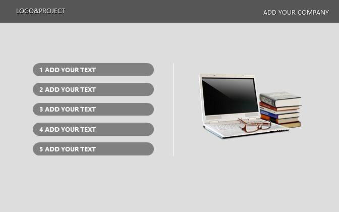 灰色简洁商务PPT模板下载_预览图8