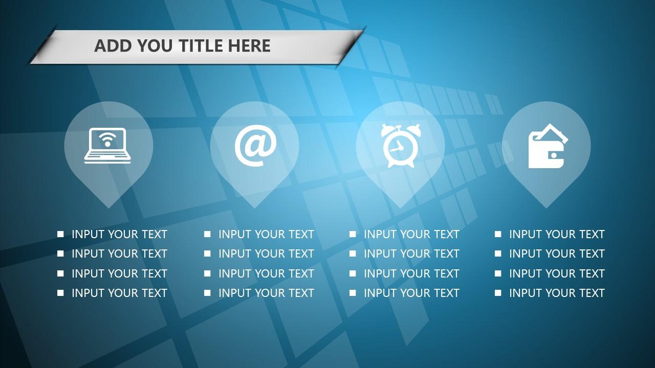 蓝色科技商务PowerPoint模板下载_预览图10