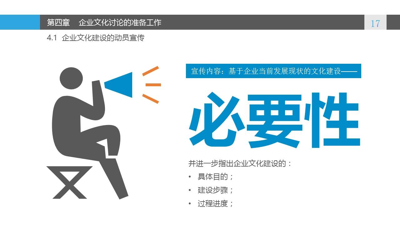 蓝色系企业文化建设PowerPoint模板_预览图17