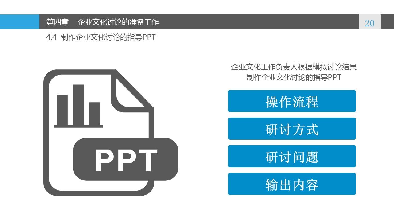 蓝色系企业文化建设PowerPoint模板_预览图20