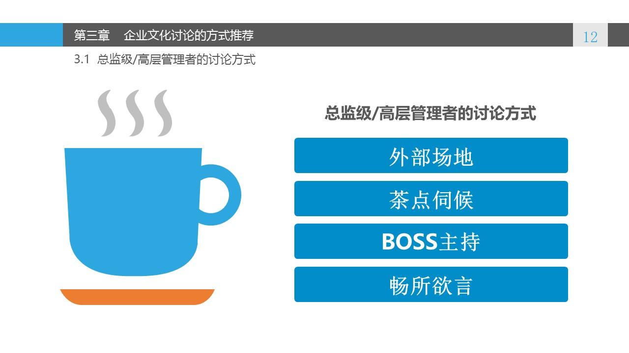 蓝色系企业文化建设PowerPoint模板_预览图12