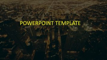 城市夜景商务通用PowerPoint模板下载