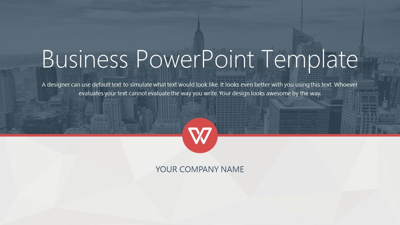 都市风格商务通用PowerPoint模板下载_预览图1