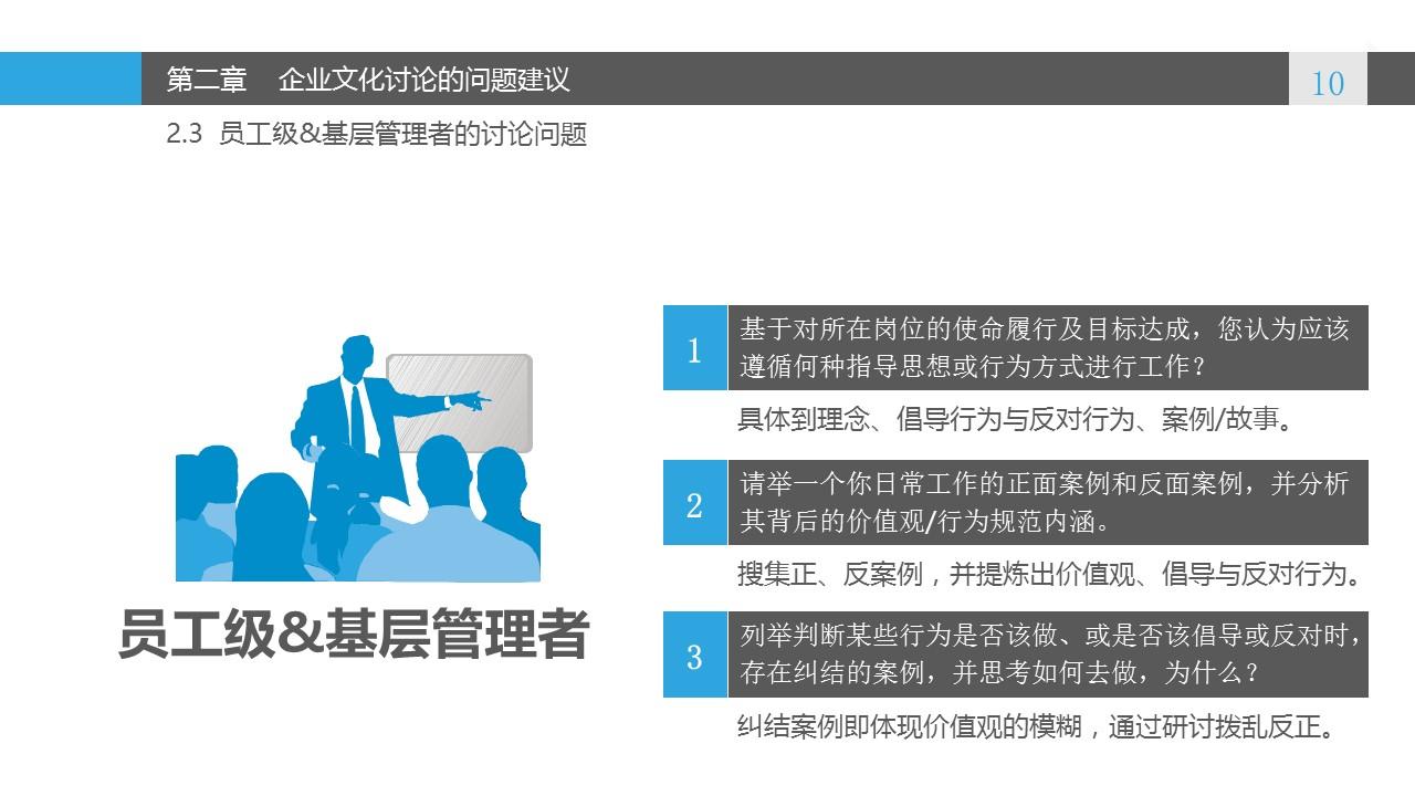 蓝色系企业文化建设PowerPoint模板_预览图10