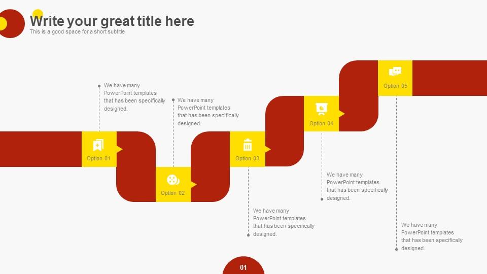 中国红商业报告PPT模板下载_预览图10