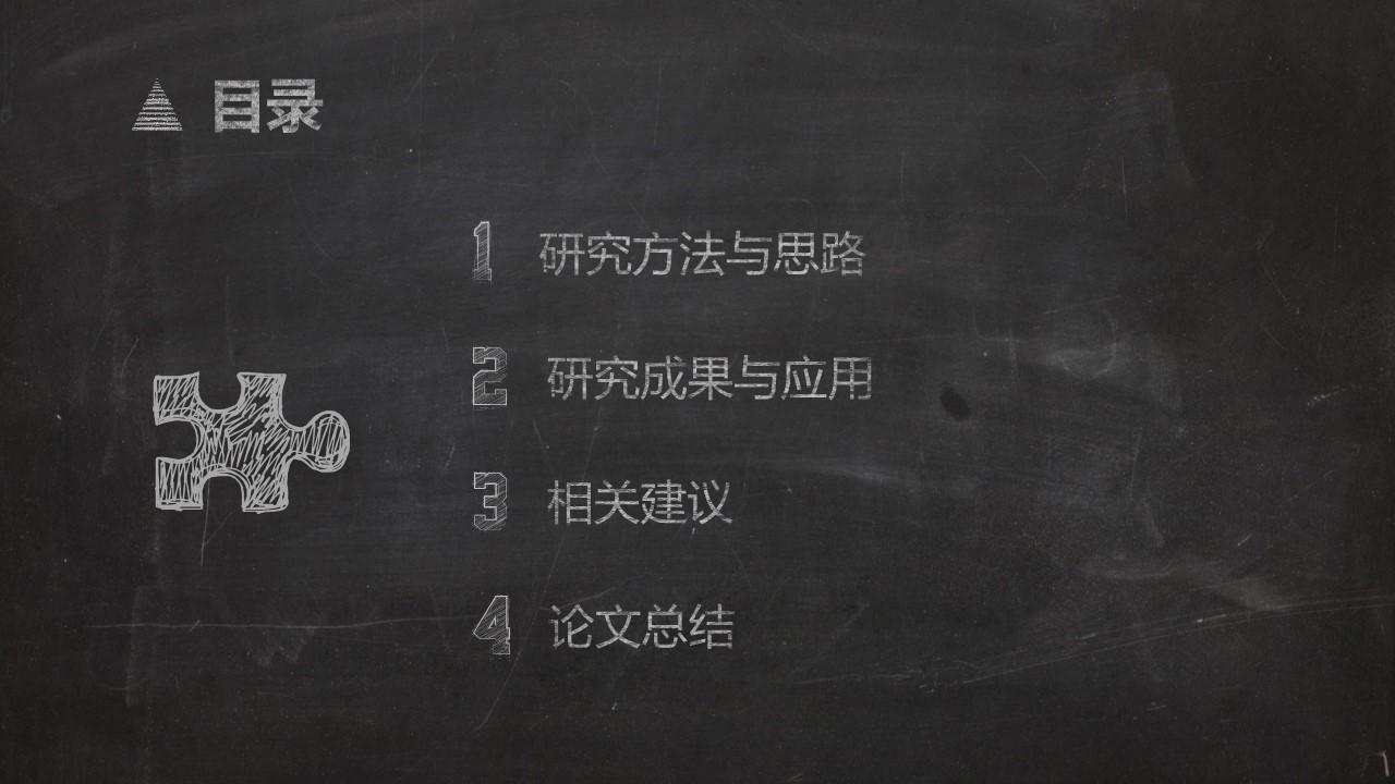 一套精美到极致的教学/论文答辩用粉笔字PPT模板_预览图2