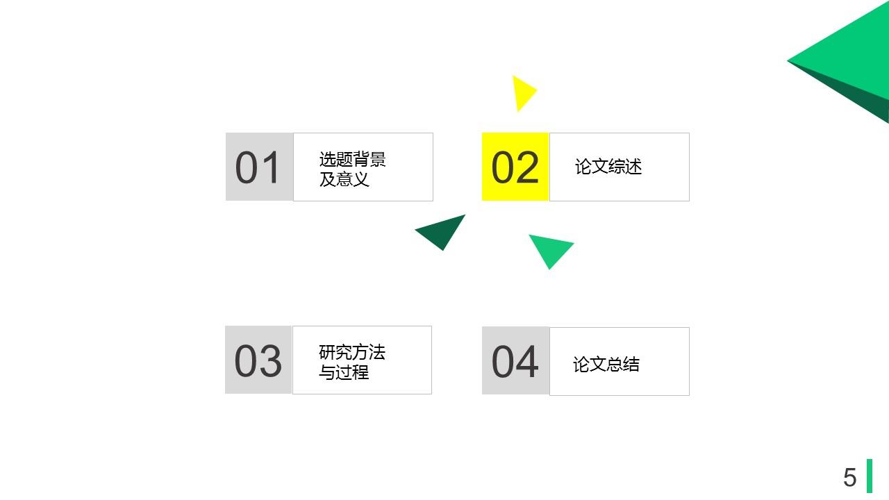 绿色多边形论文答辩PPT模板下载_预览图5