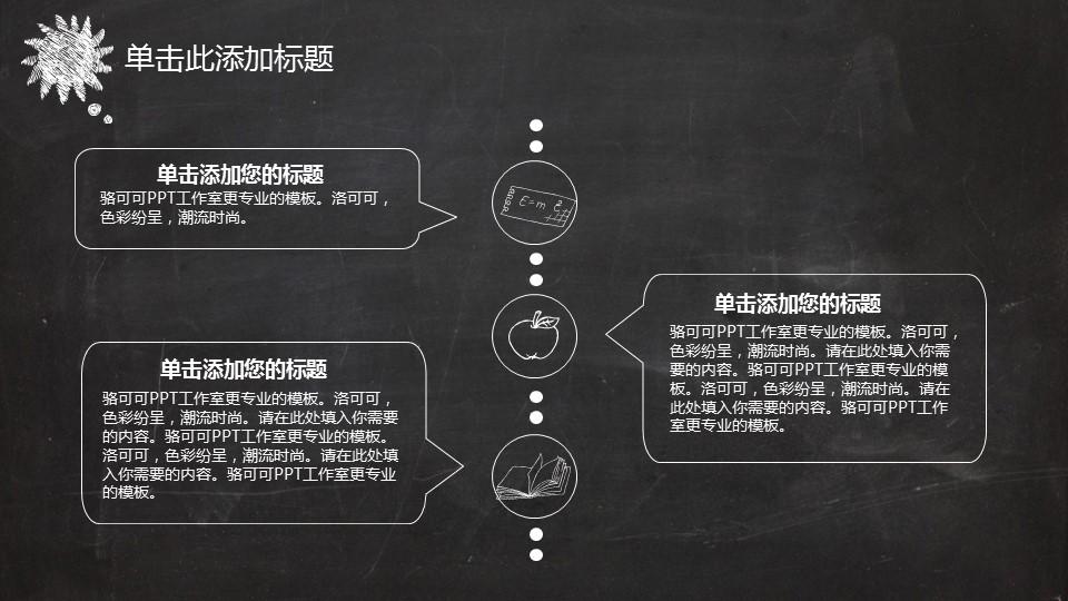 黑板风格创意教学PPT模板_预览图13