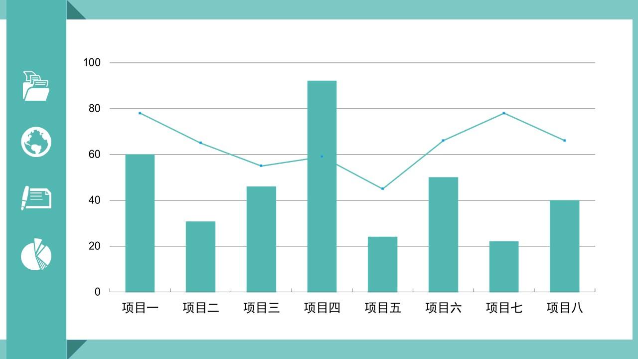 绿色扁平化工作总结商务PPT模版_预览图22