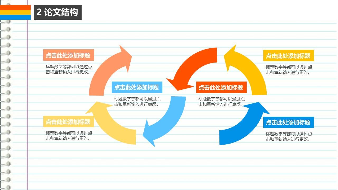 笔记本样式毕业论文答辩PowerPoint模板下载_预览图10