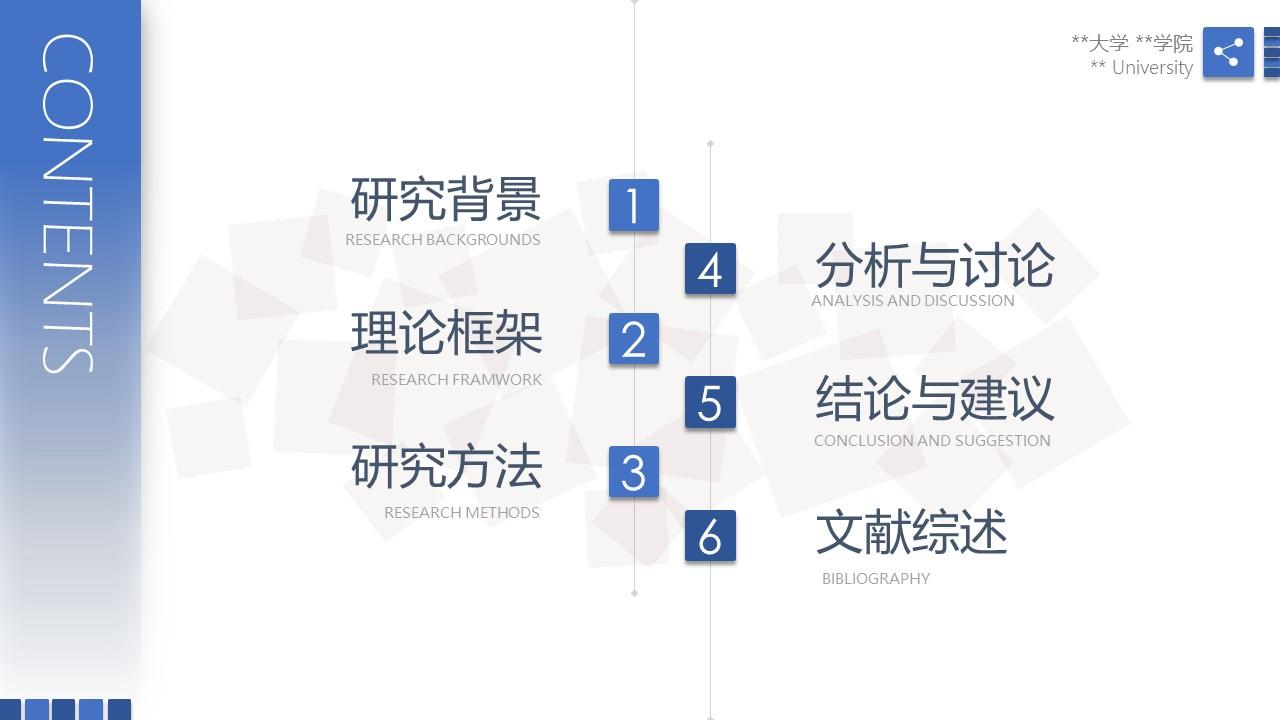 蓝色简洁毕业论文答辩PPT模版下载_预览图2