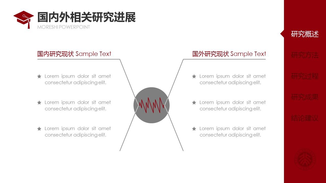 简约大方毕业论文答辩通用PPT模板_预览图6