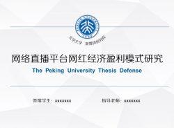大学项目研究报告PowerPoint模板下载