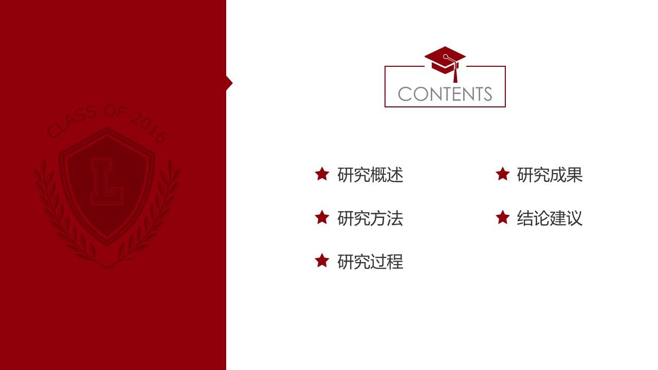 简约大方毕业论文答辩通用PPT模板_预览图2
