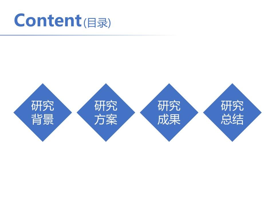 简洁风格开题报告PowerPoint模板下载_预览图2