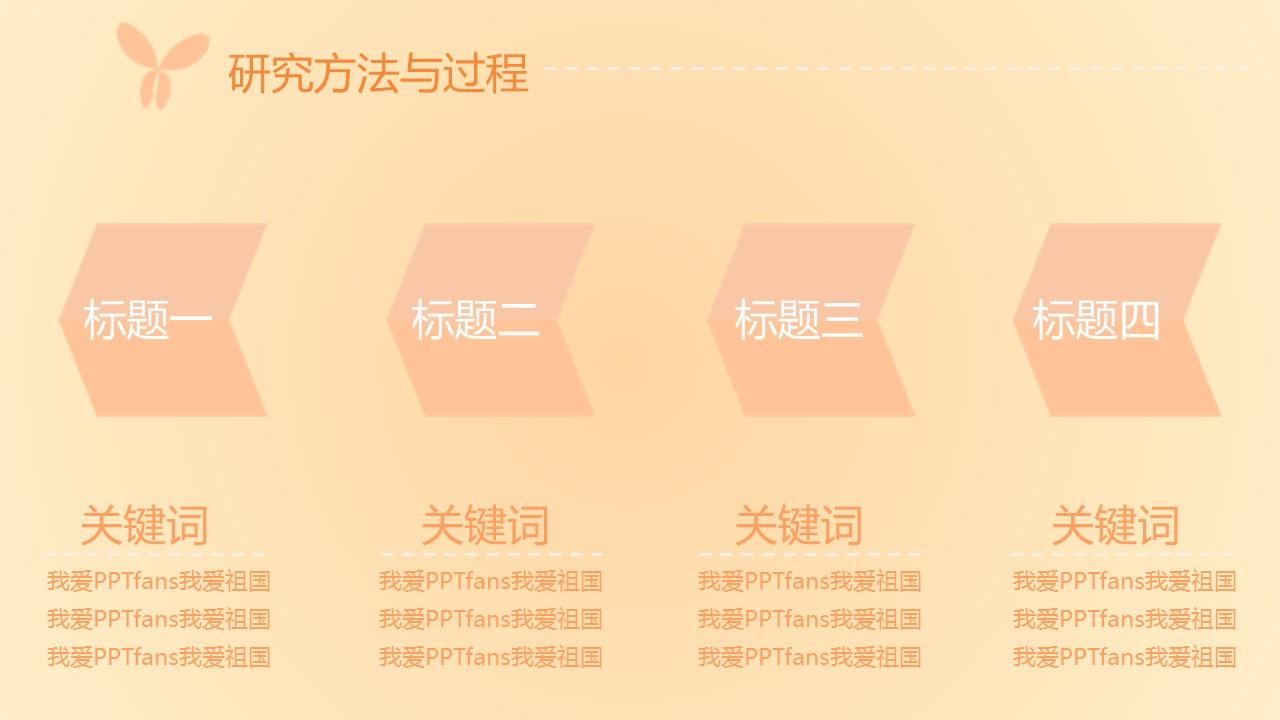 粉色系蝶恋花毕业答辩PPT模板下载_预览图9