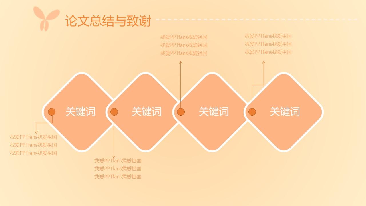 粉色系蝶恋花毕业答辩PPT模板下载_预览图14