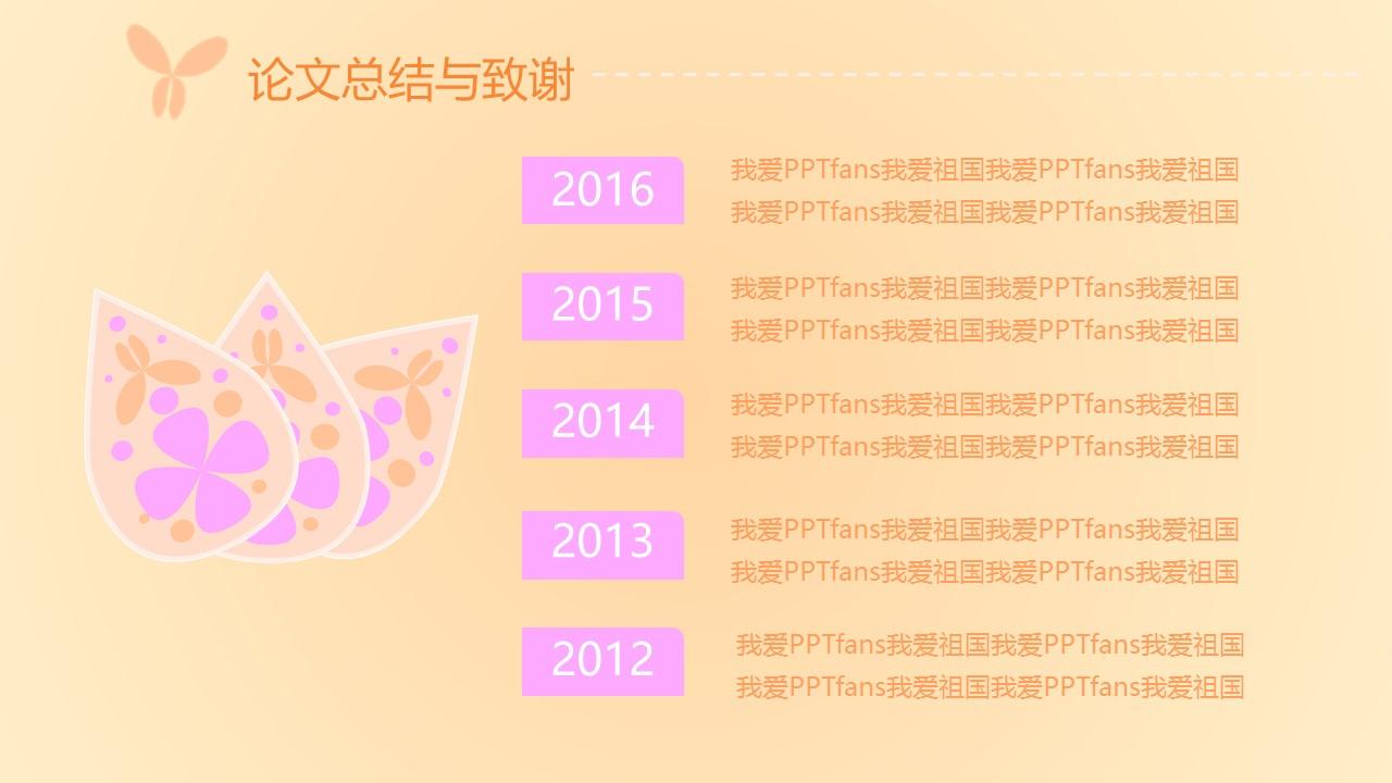 粉色系蝶恋花毕业答辩PPT模板下载_预览图12
