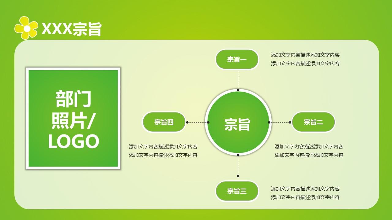 绿色清新学生会招新PPT模板下载_预览图3